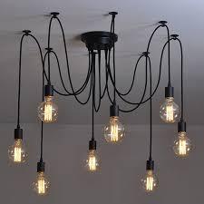 modern nordic retro edison bulb light chandelier vintage loft antique adjule diy e27 art round 12