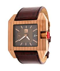 new stock from dragon sunglasses and quicksilver watches quiksilver baron watch in copper metallic picture