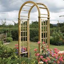 wooden round top garden rose arch living in the awesome wooden garden arches pictures