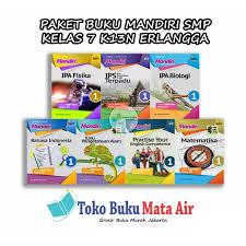 Harga paket ruang guru sd, smp dan sma perbulan 2020 _ catatan: Jual Best Seller Paket Buku Mandiri Smp Kelas 7 K13n Erlangga Jakarta Pusat Pokiebookhouse Tokopedia