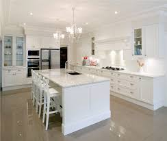 White Kitchens With Islands Clean Interior Of Ultra Modern Kitchen With White Kitchen Island