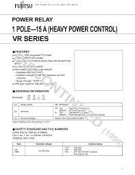 Discontinued 1 Pole 15 A Heavy Power Control Vr Series