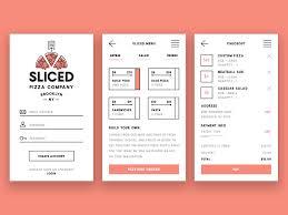 restaurant menu design app pizza app ui ux by charles honig on dribbble