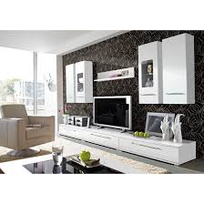 image of cool white living room furniture