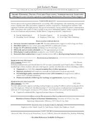Administrative Assistant Objective Resume Classy New Resume Template For Administrative Position Or Resume Example