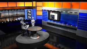 tv studio furniture.  Studio Complete Dual Set Small Broadcast Design Furniture And Backdrop Walls With Tv Studio Furniture