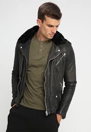 aaiden perfecto leather jacket black