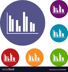 Financial Analysis Chart Icons Set