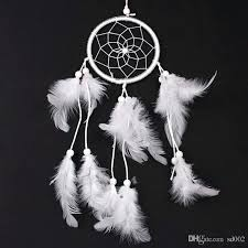 feather wall hanging creative dream catcher net antique imitation enchanted forest wind chimes white feather wall feather wall hanging