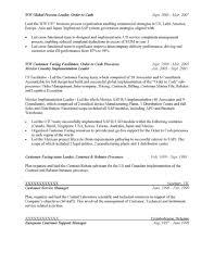 Order To Cash Resume Sample Order Management Resume Sample The Best Resume 2