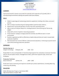 sample machinist resume ajac resume writing
