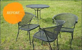 recommended spray paint wrought iron patio furniture painting metal outdoor furniture painting rusted wrought