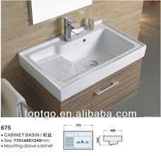 Sanitary Ware Ceramic Bathroom Basin With Washboard 675 - Buy ...