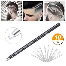 Hair Tattoo Trim Styling Face Eyebrow Shaping Device Joyeah Hair Engraving Pen 10 Blades