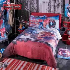 Marvel Captain America Iron Man Civil War Bedding Comforter & Sheet Set  Twin F Q-