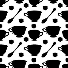 vintage tea cup silhouette. Contemporary Cup Seamless Pattern With Tea Cups Coffee Teaspoon And Sugar Cube  Endless Print Silhouette To Vintage Tea Cup Silhouette C
