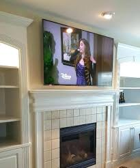 mounting tv above fireplace in wall mounted over ideas how to mount remodel 8