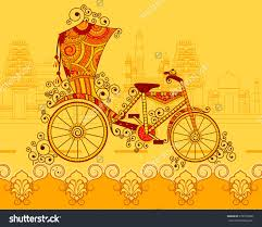 Free Shutterstock Images Vector Design Of Cycle Rickshaw In Indian Art Style