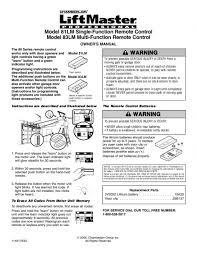 liftmaster garage door opener manual