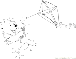 Pooh_Bear_Playing_Kite_connect_dots area of kite worksheet termolak on area problems worksheet