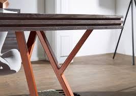Wohnling Esstisch Massiv Dewas Esszimmertisch Holz Metall Küchentisch 200 Cm