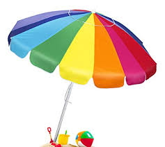 Image 240cm Umbrella Image Unavailable Amazoncom Amazoncom Best Choice Products 7ft Giant Tilt Rainbow Beach