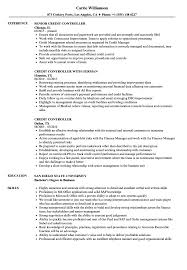 Sample Controller Resume Credit Controller Resume Samples Velvet Jobs 8