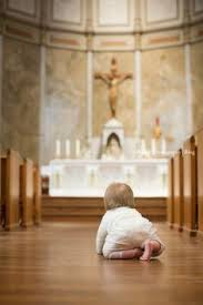 Image result for infant in church pew