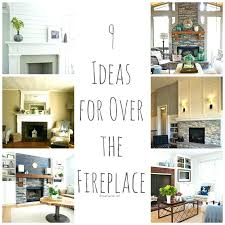 over fireplace ideas above living throughout 3