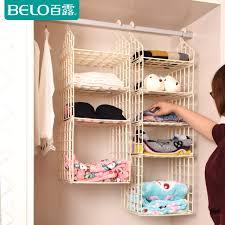 get quotations wardrobe storage bag hanging plastic storage cabinets wardrobe closet storage hang the bag to put the