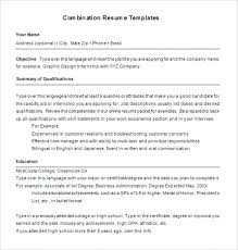 Combination Resume Templates Impressive Combination Resume Template Download Download Resume Template 28 Free