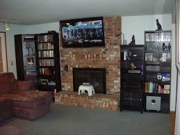 tv on brick fireplace mantel best fireplace 2017