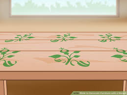 how to decorate furniture.  How Image Titled Decorate Furniture With A Stencil Step 13 Throughout How To T