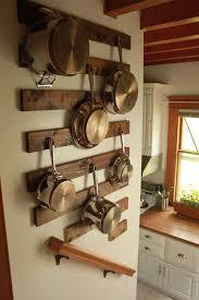 kitchen diy pot rack stainless steel utensil hanging bar dark wooden dining table green glass