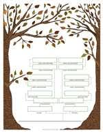 printable family tree charts 4 free family tree templates family tree