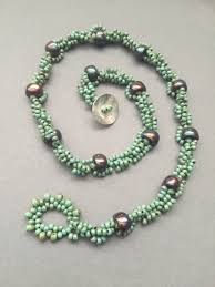 Spiral Beads Design Playing With Nano Beads Seed Beads Spiral Beth Stone