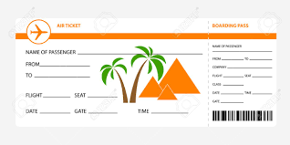 Image And Isolated Illustration Vectors Ticket Space Orange Cliparts Royalty Pass Stock Blank 47676755 Free Boarding Coupon Airplane