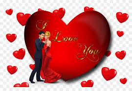 i love you loving couple red heart