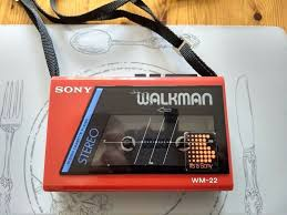 Image result for red sony walkman cassette player