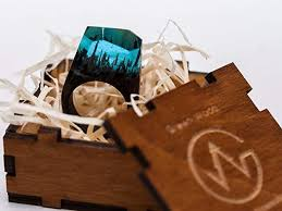 Amazon.com: <b>Wood Resin Ring Soul</b> of The Forest Jewelry ...