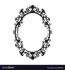 antique oval mirror frame. Oval Mirror Frame. Vintage Frame - Vector Image R Antique B