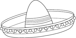 santa claus hat coloring page.  Hat Santa Hat Coloring Pages Page Sombrero Line Art Free  Printable  And Santa Claus Hat Coloring Page P
