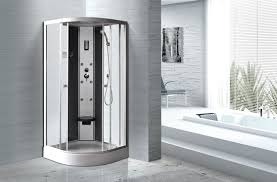matt silver profiles curved glass shower enclosures enclosed shower cubicles