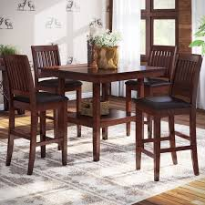 loon peak chippewa 5 piece counter height dining set reviews wayfair inside room chairs ideas 11