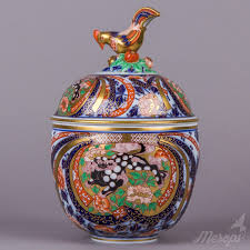 Large Decorative Jars Herend Masterpiece Large Decorative Jar With Sitting Rooster Knob 22