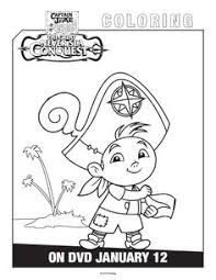 disney captain jake and the neverland pirates coloring page