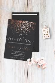 Reserve The Date Cards Save The Date Card Printable Rose Gold Grey Wedding Save The Date