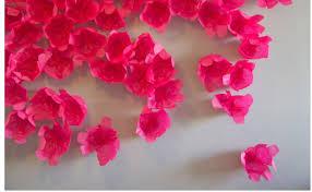 tissue paper flowers easy diy wall art project on paper flower wall art tutorial with the best easy diy wall art projects my kawaii home