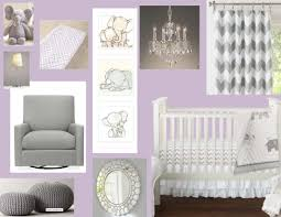 Lavender Nursery Purple And Grey Elephant Nursery Design Board Baby Pinterest