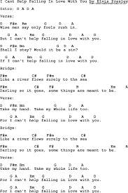 I Cant Help Falling In Love With You By Elvis Presley Lyrics And